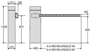 Michelangelo - Abmessungen